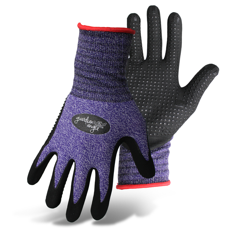 Boss Dotted Nitrile Gloves M