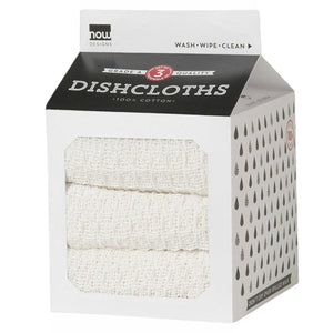 Dishcloths White Set of 3