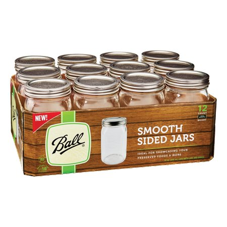 Ball Smooth Sided Wide Mouth Quarts Case of 12