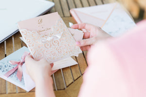 Wedding Invitation - Pink