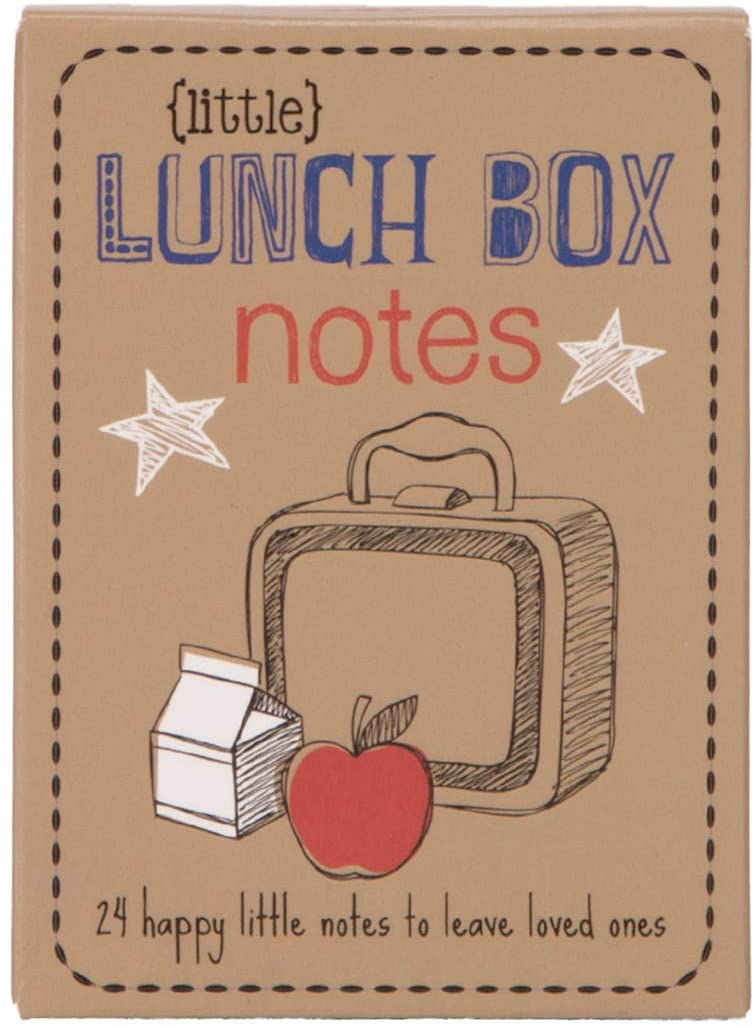 "alt=""Cute lunch box notes have sweet drawings and lunchbox note ideas like, ''Bee Happy,'' ''You Rock'' and more. Box includes 24 (2-sided) illustrated lunch box notes"""