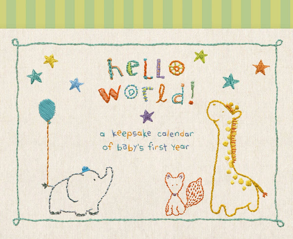 "alt=""Made With Love  Baby's First Year Calendar with animals includes stickers to mark special milestones"""