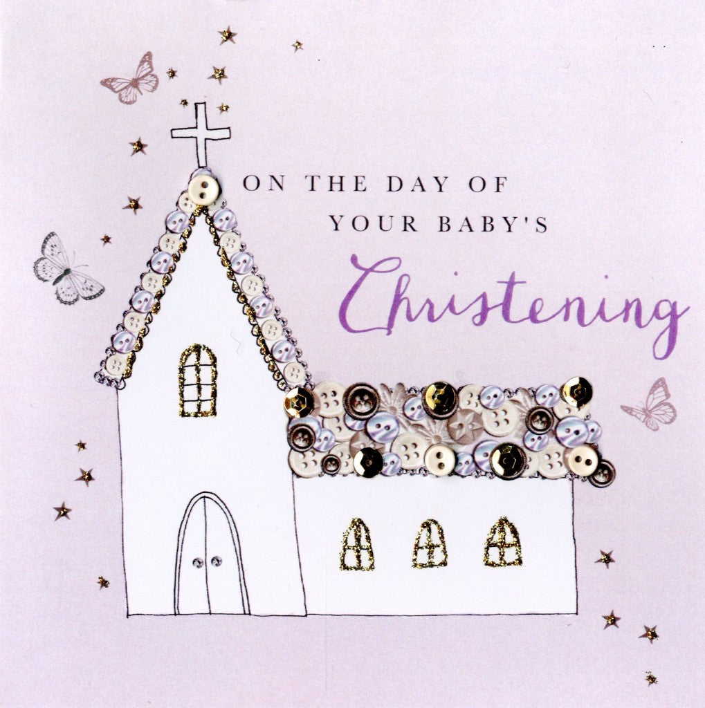 Second Nature • Christening Church - Buttoned Up Greeting Card
