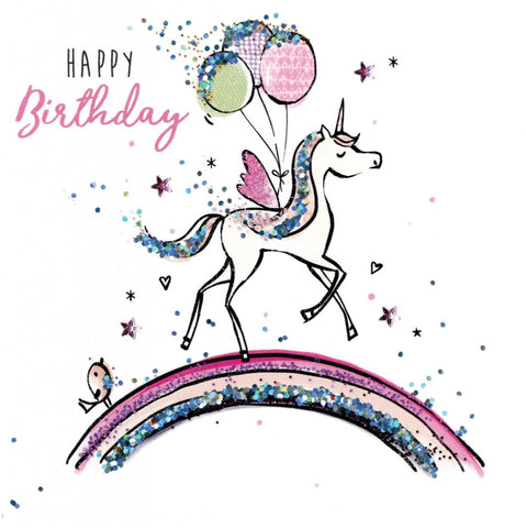Birthday Unicorn - Sparkle Dust Greeting Card
