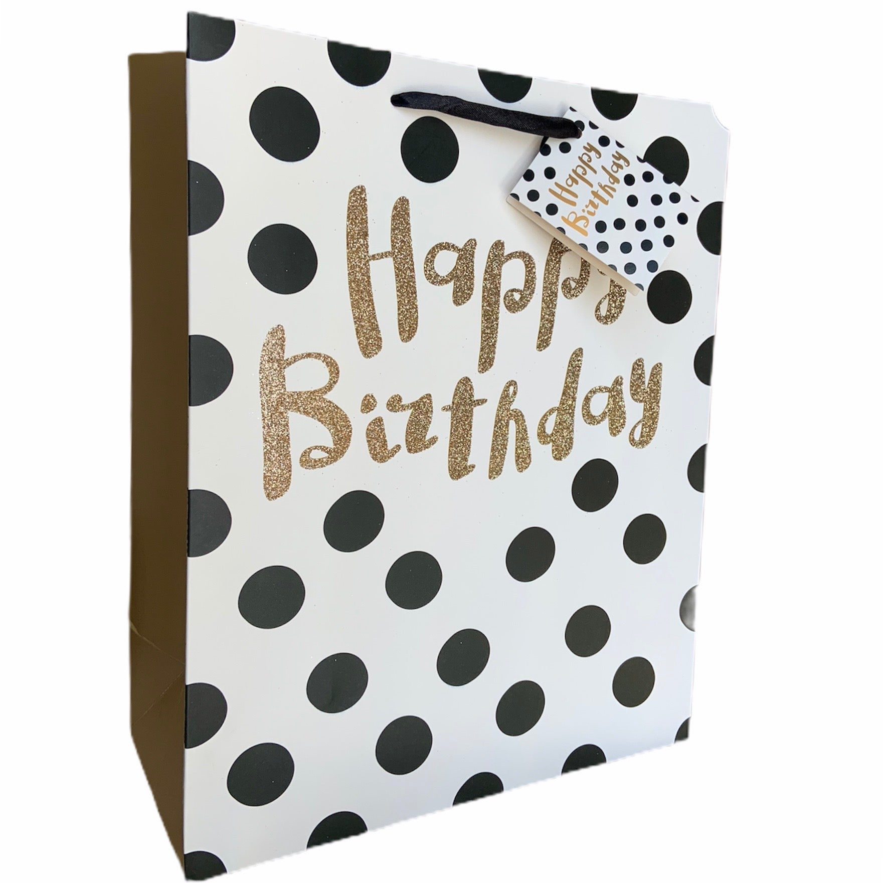 Happy Birthday Polka Dot Gift Bag Large