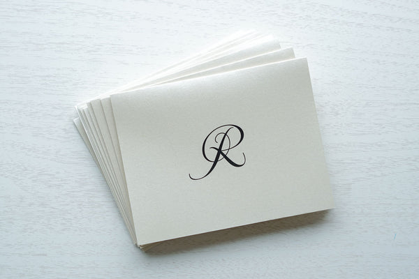 "alt=""personalized note cards with monogram detail"""