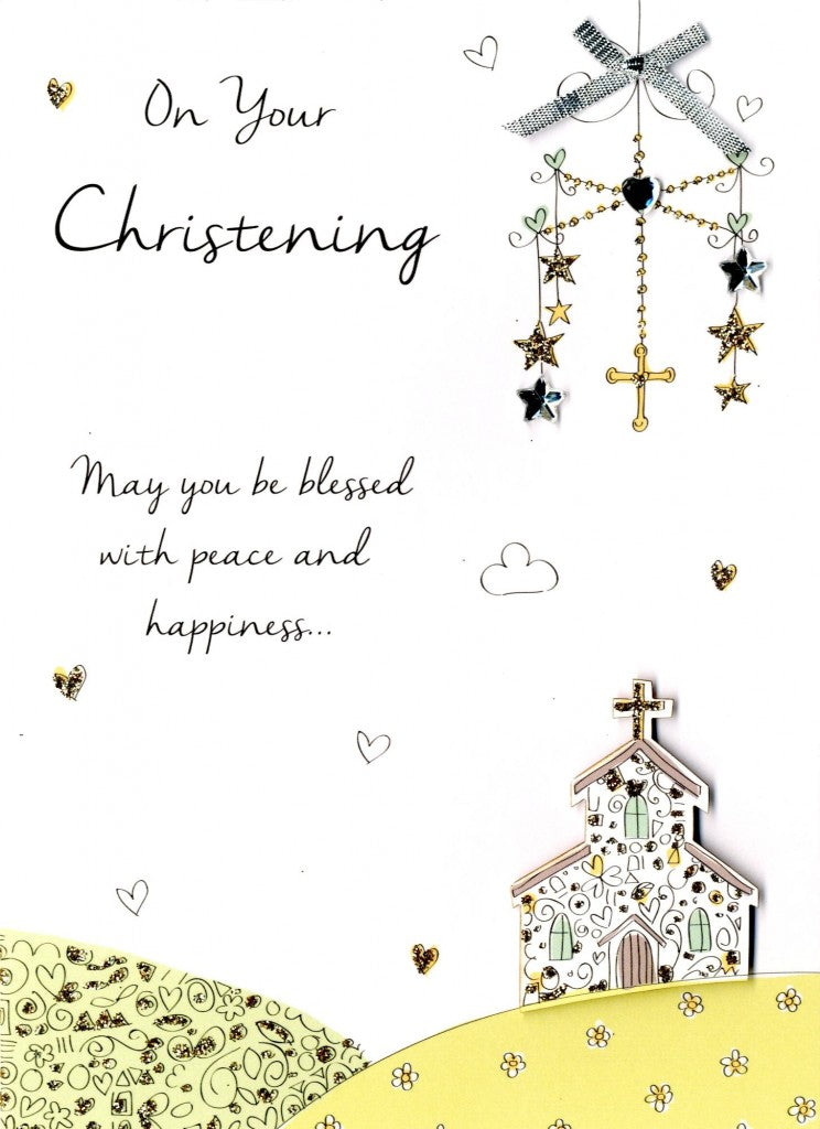 Second Nature • Christening Church - Just to Say Greeting Card