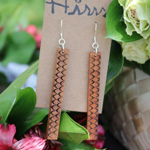 Hulu Hawaiian Koa Wood - 14k Gold Filled/ Sterling Silver Earrings