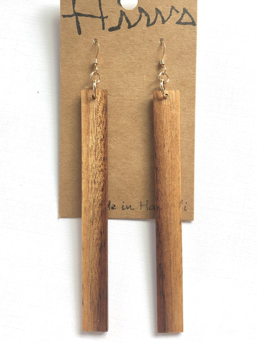 Natural Hawaiian Koa Wood - 14k Gold Filled Earrings