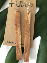 Load image into Gallery viewer, Natural Hawaiian Koa Wood - Sterling Silver Earrings