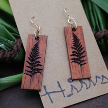 Load image into Gallery viewer, Palapalai Hawaiian Koa Wood - 14k Gold Filled/ Sterling Silver Earrings