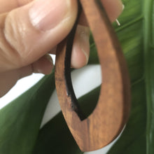 Load image into Gallery viewer, Teardrop Large Hawaiian Koa Wood - Sterling Silver Earrings *Natural Imperfections