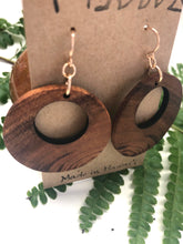 Load image into Gallery viewer, Hina Natural Hawaiian Koa Wood (Limited) - 14k Gold Filled Earrings