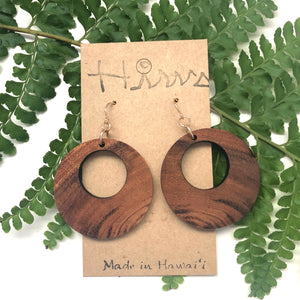 Hina Natural Hawaiian Koa Wood (Limited) - 14k Gold Filled Earrings