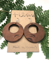 Load image into Gallery viewer, Hina Natural Hawaiian Koa Wood (Limited) - Sterling Silver Earrings