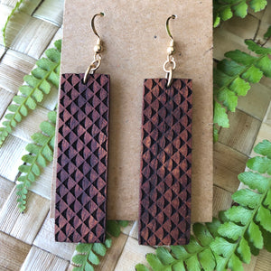 Mano Hawaiian Koa Wood - 14k Gold Filled/ Sterling Silver Earrings