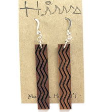 Load image into Gallery viewer, Wailele Hawaiian Koa Wood - 14k Gold Filled/ Sterling Silver Earrings