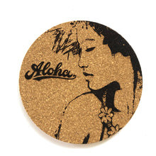 Load image into Gallery viewer, Aloha Wahine Print Cork Coasters Set of 2