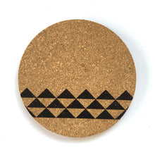 Load image into Gallery viewer, Mauna Print Cork Coasters Set of 2