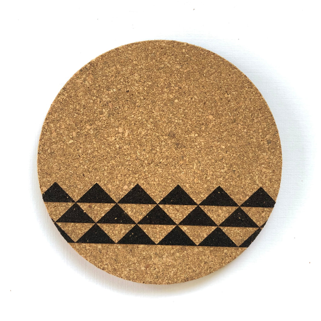 Mauna Print Cork Coasters Set of 2