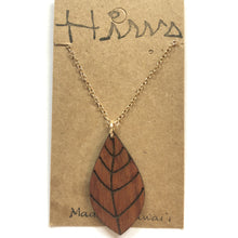Load image into Gallery viewer, Lau Hawaiian Koa Wood w/ 14k Gold Filled Necklace