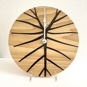Kalo design Solid Wood Round Clock 10""