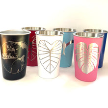 Load image into Gallery viewer, Monstera Laser Engraved Stainless Steel Pint Cup 16oz