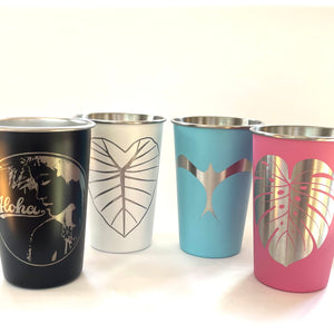 Kalo (Dark) Laser Engraved Stainless Steel Pint Cup 16oz