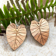 Load image into Gallery viewer, Kalo Hawaiian Koa Wood (Limited Light color) - 14k Gold Filled/ Sterling Silver Earrings
