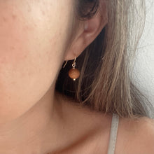 Load image into Gallery viewer, Koa Wood Bead - 14k Gold Filled Earrings