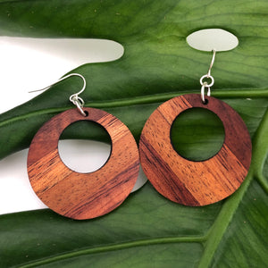 Hina Hawaiian Koa Wood - 14k Gold Filled/ Sterling Silver Earrings