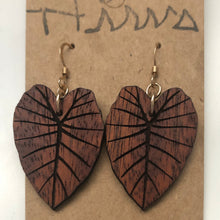 Load image into Gallery viewer, Kalo Hawaiian Koa Wood - 14k Gold Filled/ Sterling Silver Earrings