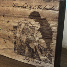 Load image into Gallery viewer, Custom Laser Engraved Image Wood Clock