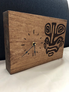 Custom Laser Engraved Image Wood Clock