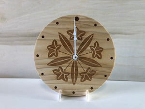 Custom Laser Engraved Image Wood Round Clock
