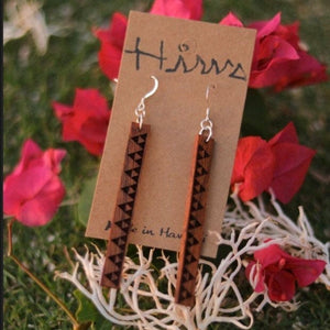 Mauna Kapa Hawaiian Koa Wood - 14k Gold Filled/ Sterling Silver Earrings