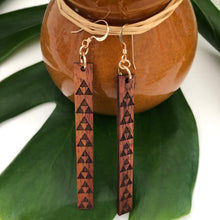 Load image into Gallery viewer, Mauna Hawaiian Koa Wood - 14k Gold Filled/ Sterling Silver Earrings