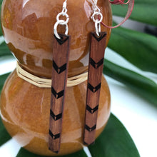 画像をギャラリービューアに読み込む, Kalo Kapa Hawaiian Koa Wood - 14k Gold Filled/ Sterling Silver Earrings