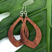 Load image into Gallery viewer, Teardrop Hawaiian Koa Wood - 14k Gold Filled/ Sterling Silver Earrings