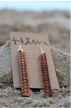 Load image into Gallery viewer, Hulu Hawaiian Koa Wood - 14k Gold Filled/ Sterling Silver Earrings
