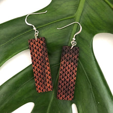 Load image into Gallery viewer, Mano Hawaiian Koa Wood - 14k Gold Filled/ Sterling Silver Earrings