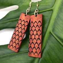 Load image into Gallery viewer, 'Ahu 'ula Hawaiian Koa Wood - 14k Gold Filled/ Sterling Silver Earrings