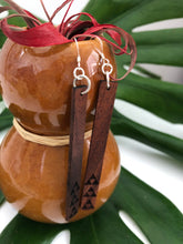 Load image into Gallery viewer, Mauna 'Ekolu Hawaiian Koa Wood - 14k Gold Filled/ Sterling Silver Earrings
