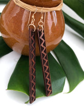 Load image into Gallery viewer, Lokahi Kapa Hawaiian Koa Wood - 14k Gold Filled/ Sterling Silver Earrings