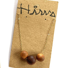 Load image into Gallery viewer, 'Ekolu Koa Wood Beads  w/ 14k Gold Filled Necklace