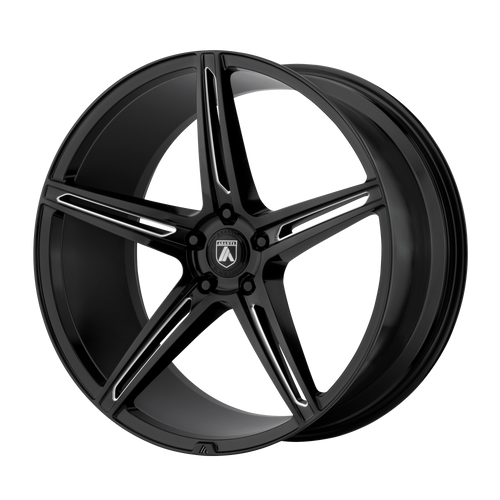 brand asanti black and model alpha 5 wheel in a finish of gloss black milled with a model number of ab22