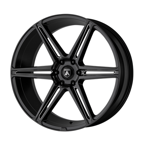 brand asanti black and model alpha 6 wheel in a finish of gloss black milled with a model number of ab25