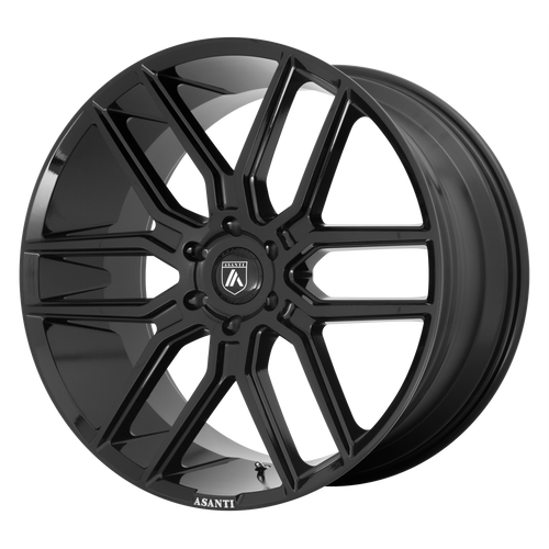 brand asanti black and model baron wheel in a finish of gloss black with a model number of ab28