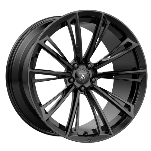 brand asanti black and model corona wheel in a finish of gloss black with a model number of ab30
