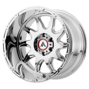 brand asanti off road and model ballistic wheel in a finish of chrome with a model number of or810